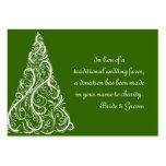 Tarjeta verde del favor de la caridad del boda del plantillas de tarjeta de negocio