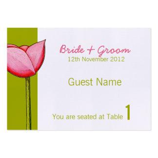 Tarjeta verde del lugar de las flores simples tarjetas de visita grandes