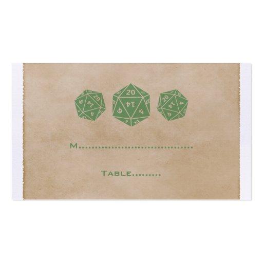 Tarjeta verde del lugar del videojugador de los da tarjeta personal