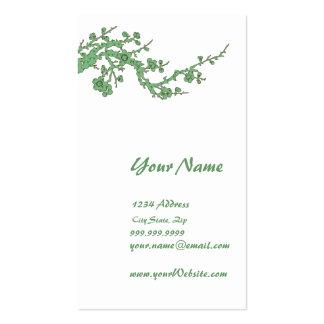 Tarjeta verde del perfil de la tarjeta de visita