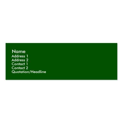 Tarjeta verde del perfil plantillas de tarjetas personales