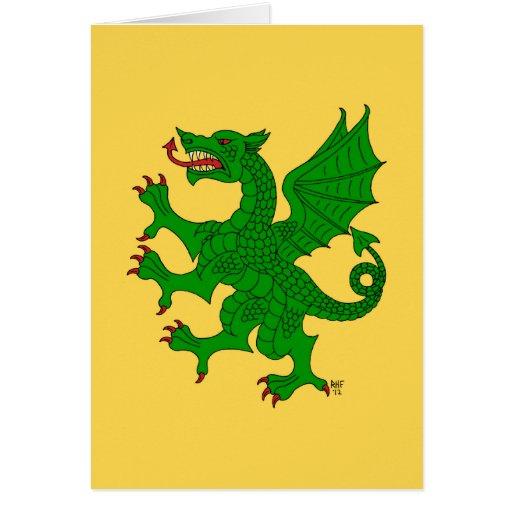 Tarjeta (verde) desenfrenada del dragón