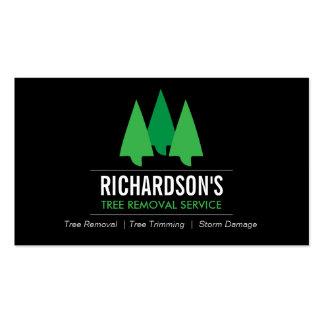 Tarjeta verde/negra del árbol del logotipo tarjetas de visita