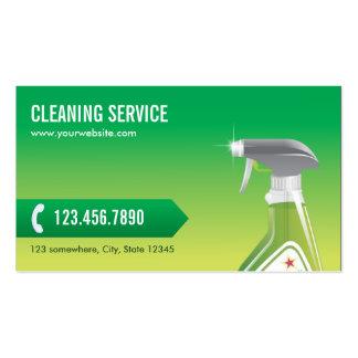 Tarjeta verde profesional de la empresa de servici tarjetas de visita