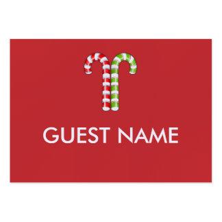 Tarjeta verde roja del lugar de la cena de los tarjetas de visita grandes