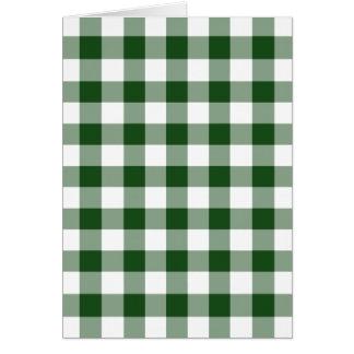 Tarjeta verde y blanca del día de fiesta del
