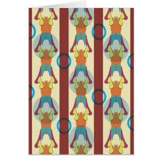 Tarjeta vertical abstracta del sudoeste