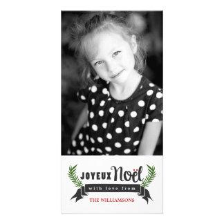 Tarjeta vertical de la foto del día de fiesta de tarjetas personales