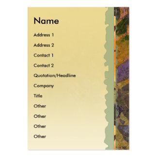 Tarjeta vertical del perfil de las glicinias plantilla de tarjeta de visita