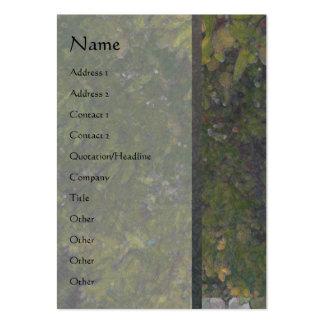 Tarjeta vertical del perfil del árbol de almendra  tarjetas de visita