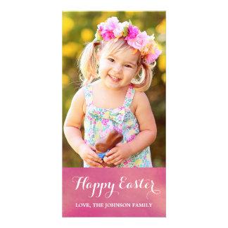 Tarjeta vertical feliz de la foto de Pascua Tarjeta Personal Con Foto