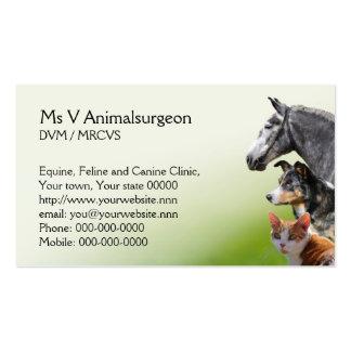 Tarjeta veterinaria de la cita y de visita de la p plantilla de tarjeta personal