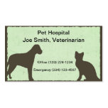 Tarjeta veterinaria de la empresa de servicios del plantilla de tarjeta de negocio