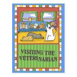 Tarjeta veterinaria del de agradecimiento postales