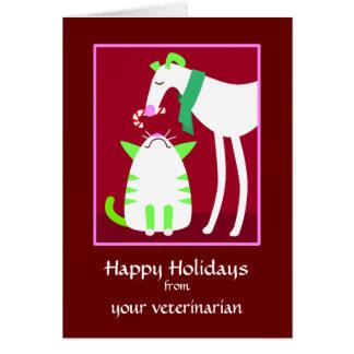Tarjeta veterinaria del día de fiesta