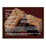 Tarjeta vieja de la receta de los brownie de la mo