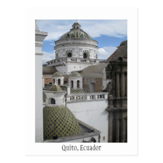 Tarjeta vieja de Quito Ecuador de la ciudad Postal