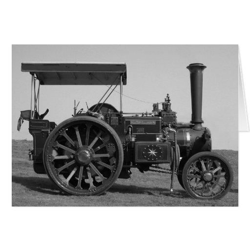 Tarjeta vieja del tractor