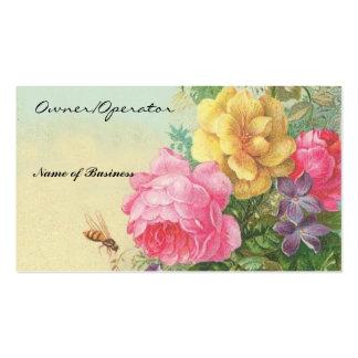 Tarjeta-Vintage del negocio floral Tarjetas De Visita