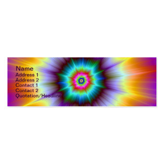 Tarjeta violeta de la explosión del naranja y de tarjetas de visita mini