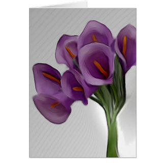 Tarjeta violeta de Lilly de la cala