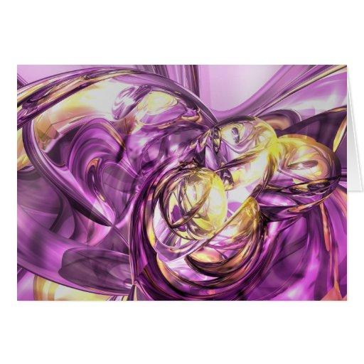 Tarjeta violeta del extracto del verano
