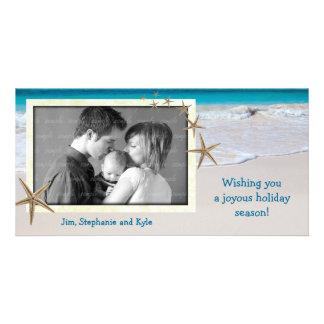Tarjeta viva costera de la foto del día de fiesta tarjetas fotográficas personalizadas