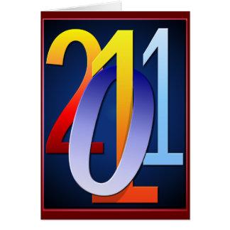 Tarjeta viva de 2011 colores