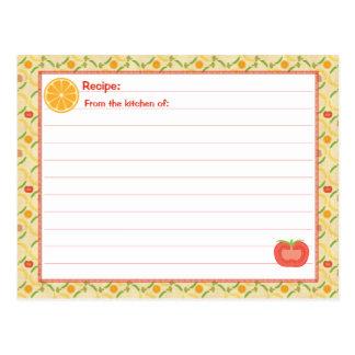 Tarjeta viva sana de la receta postales