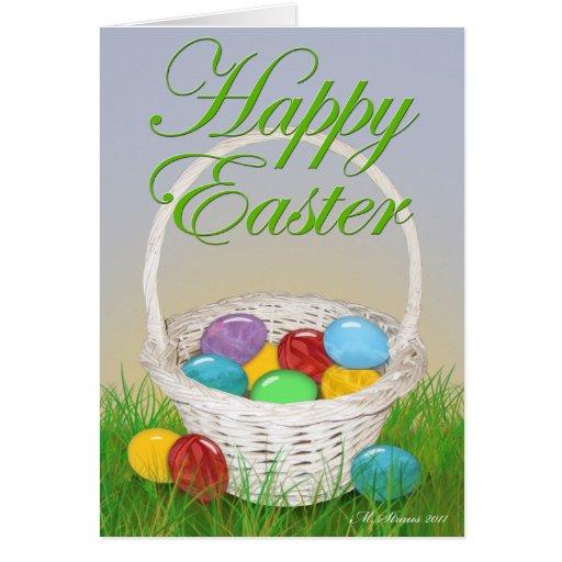 Tarjeta w/verse de la cesta de Pascua
