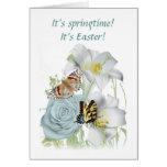 Tarjeta w/verse de Pascua/de la primavera