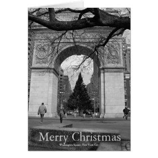 Tarjeta Washington NYC cuadrado de las Felices