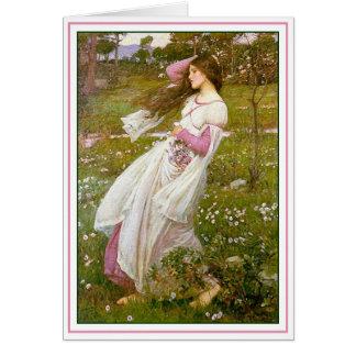 Tarjeta Windflowers - por el Waterhouse de Juan
