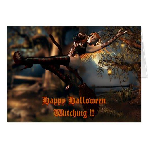 Tarjeta Witching de Halloween
