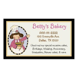 Tarjeta y cupón lindas de visita de la panadería tarjetas de visita