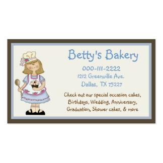 Tarjeta y cupón lindas de visita del cocinero tarjetas de negocios