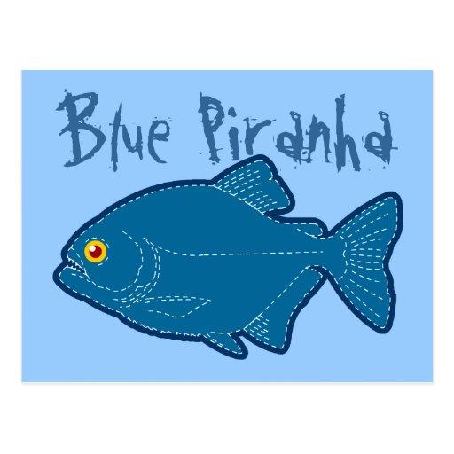 Tarjeta y postal azules de felicitación de la pira