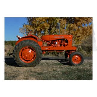 Tarjetas 1955 de felicitación del tractor de Allis