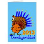 Tarjetas 2013 de felicitación de Thanksgivukkah Me