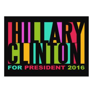 Tarjetas 2016 de visita coloridas de Hillary Tarjetas De Visita Grandes