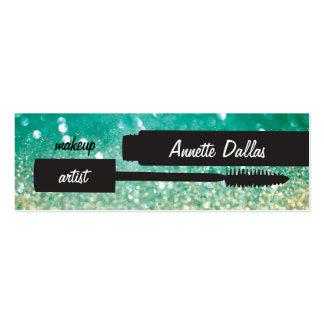Tarjetas abstractas del artista de maquillaje del tarjetas de visita mini