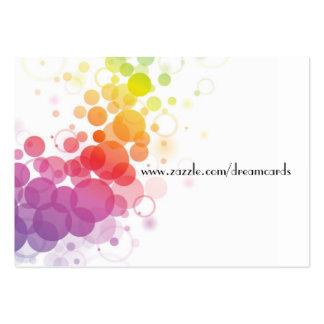 Tarjetas abstractas del perfil del diseñador tarjetas de visita grandes