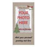 Tarjetas adaptables de la foto del navidad del est tarjeta personal