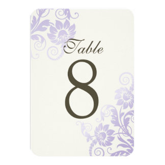 """Tarjetas adaptables del número de la tabla de la invitación 3.5"""" x 5"""""""