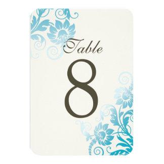 """Tarjetas adaptables del número de la tabla del invitación 3.5"""" x 5"""""""