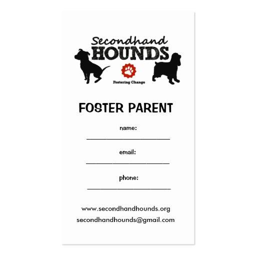¡Tarjetas adoptivas! Tarjetas De Visita