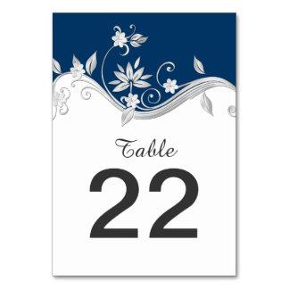 Tarjetas adornadas de la tabla de las flores blanc