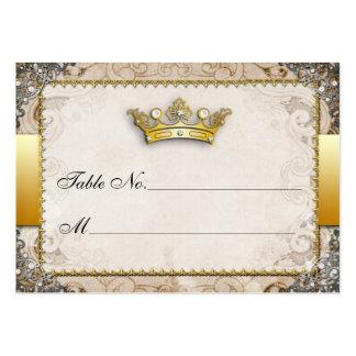 Tarjetas adornadas del número de la tabla del boda tarjetas de visita grandes