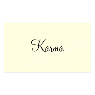 Tarjetas agradables de las karmas tarjetas de visita