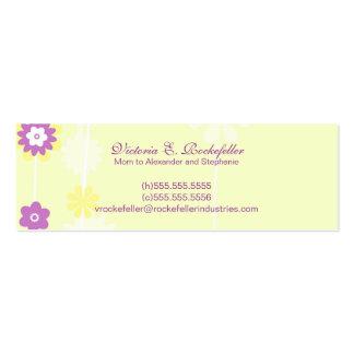 Tarjetas amarillas de la mamá de la flor tarjetas de visita mini